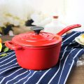Cast iron enamel sauce pot